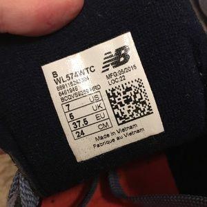 New Balance Shoes - New Balance 574 - blue and orange- sz 7 wmns